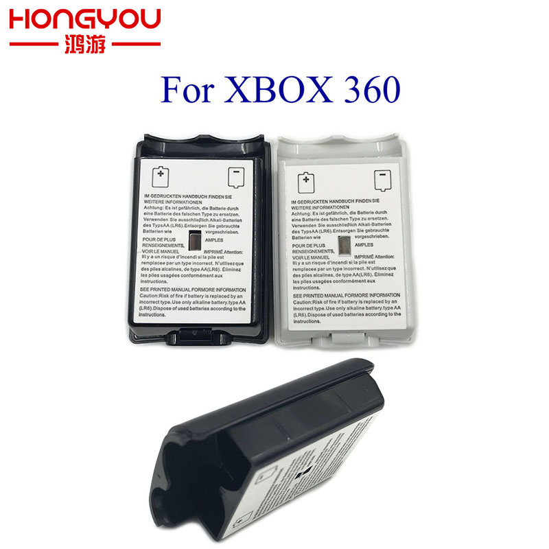 100Pcs For Xbox 360 Battery Case Wireless Controller Rechargeable Battery Cover For Xbox 360 With Sticker