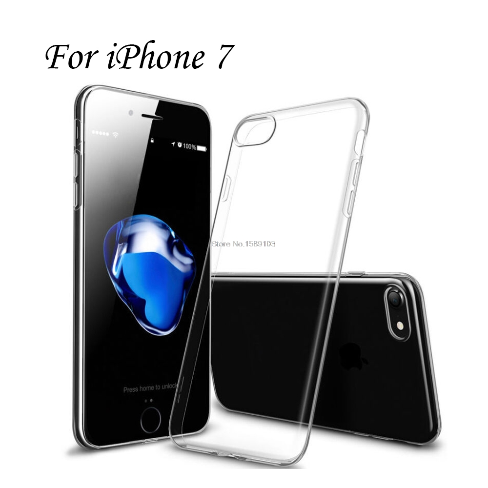 Clear Transparent TPU Gel Rubber Soft Silicone Case For iPhone 7 Cover Ultra Thin Protective Skin Cover Coque Funda