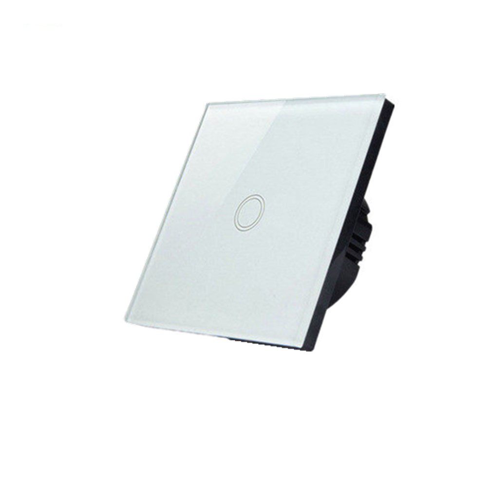 Free shipping 1Gang1Way EU Standard Light Wall Switch Touch Switches Crystal Glass Panel Smart Touch Sensitive Outlet eu standard 2 gang 1 way touch switch crystal glass panel wall light switches smart home automation round type