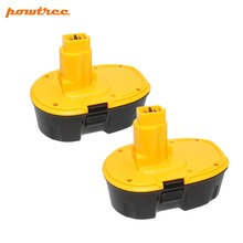 Powtree 2PCS 3500mAh 18V DC9096 NI-MH Rechargeable Battery for Dewalt DE9039 DE9095 DE9096 DC020 DC212 DC212B