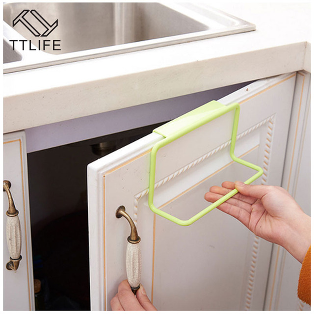 TTLIFE Portable Kitchen Cabinet Over Door Hanging Towel Rack Holder  Bathroom Kitchen Cabinet Cupboard Hanger Shelf