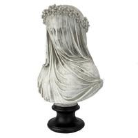 Italian Sculptor MONTI New York City Lower Town Park Imports D'Urber's Tess Girl Veil Bust Ornaments Art Decoration M1812