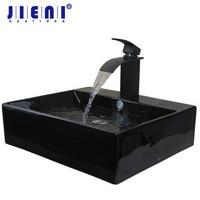 Ouboni New Ceramic Washbasin Vessel Lavatory Basin Bathroom TD3031 Sink Bath Combine Brass Faucets Mixers Taps