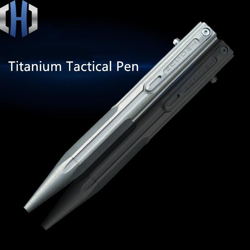Original TC4 Titanium Alloy Tactical Pen Defense Self-defense Portable EDCTool Multi-function Writing