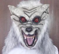 Neu Kommen Halloween qualität Tier kopf latex maske grau wolf kopf maske party horror requisiten