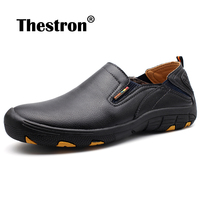 Best Sale Men's Leather Casual Shoes Autumn Loafer Shoes Men Outdoor Sneakers Brand Slip On Dress Shoes Comforteable Business