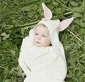Cobertores Do Bebê do presente do natal de Crochê Coelho Apaziguar Newborn Blanket Crianças Tampa de Cama de Algodão Sofe Bebês Foto Props