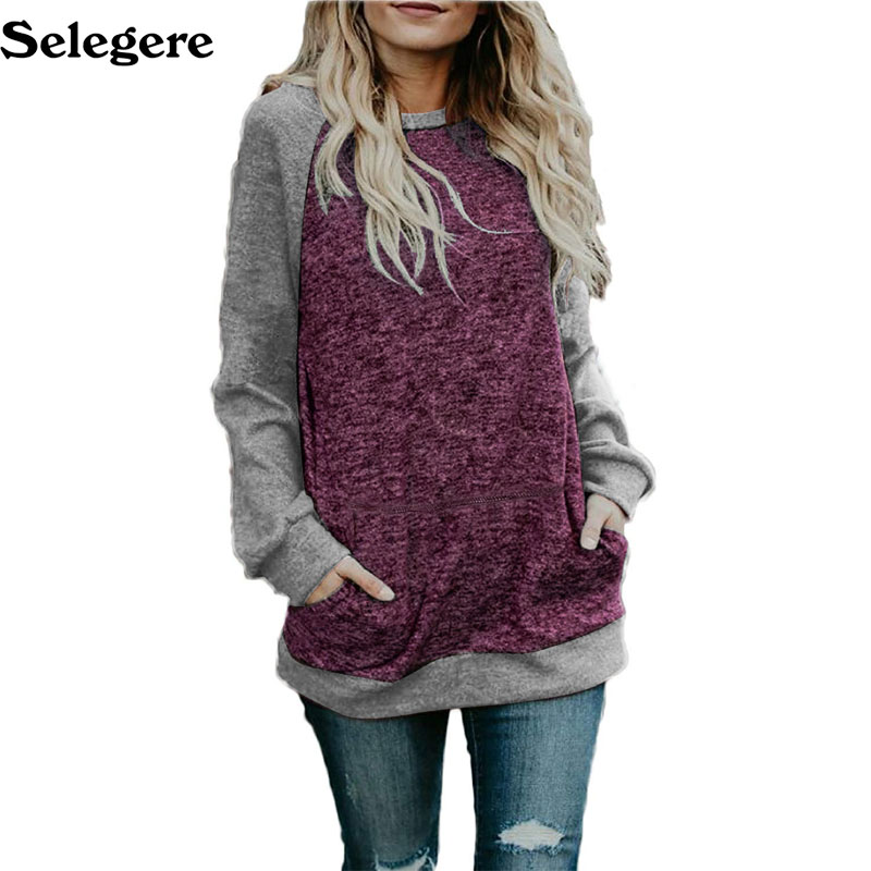 30pcs/lot 2018 New women's sweater casual loose bat sleeve stitching sweater autumn and winter hot sale 2XL