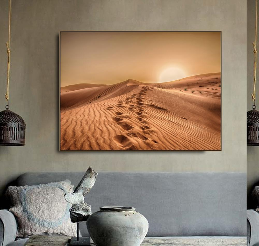 Sahara Desert Bizarre Scenery Canvas Painting Calligraphy Prints Home Decoration Wall Art Poster Picture For Living Room Bedroom