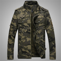 Russia Trend Men camouflage print Jackets Autumn Winter Military brave Army Stand Neck Youth Casual Outerwear Zipper Pockets