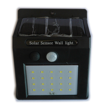 Outdoor Solar lamp Waterproof Wall LED Solar Night light PIR Motion Sensor Auto Swith Porch Path Street Fence Garden lighting
