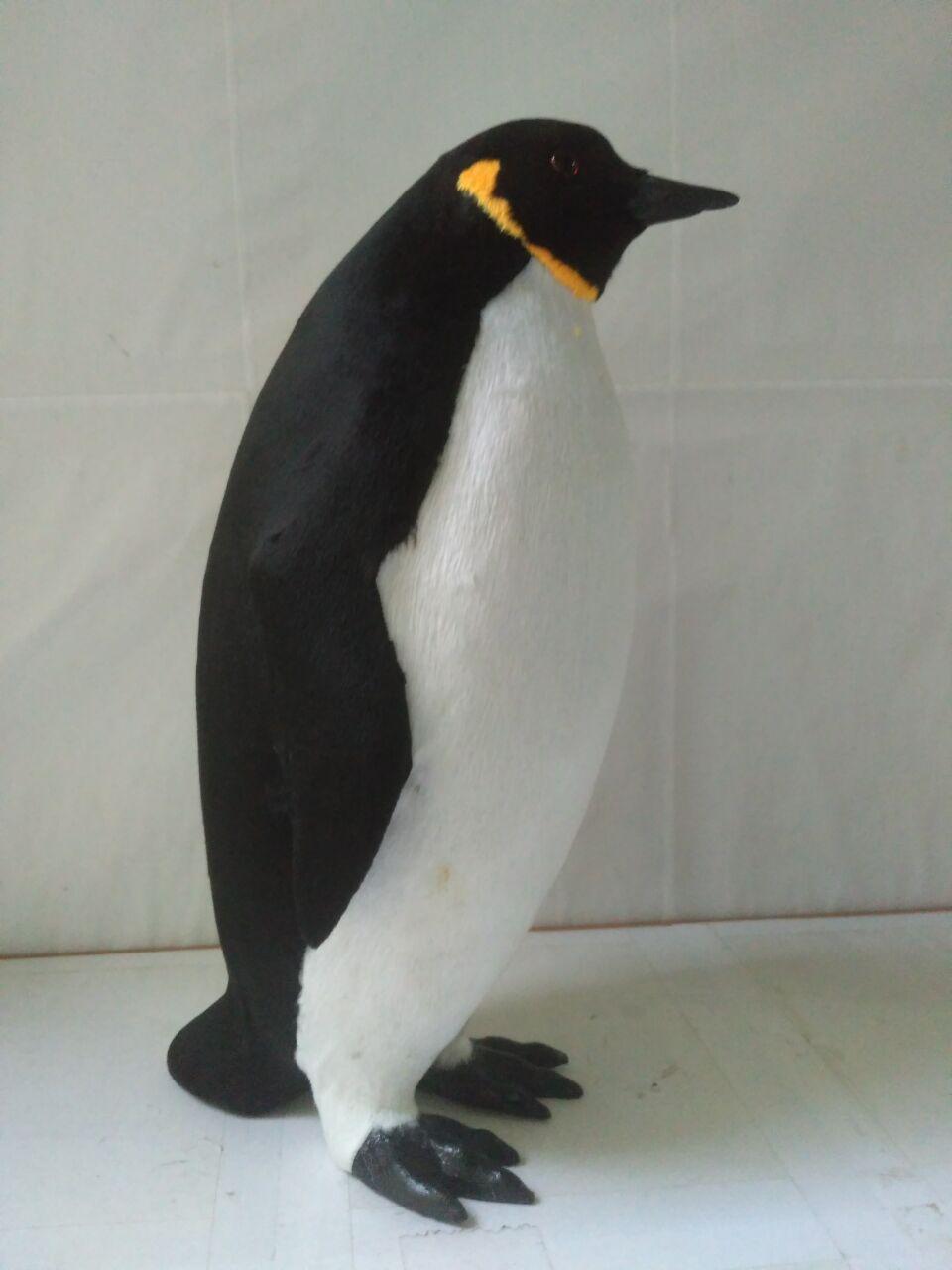 Grand modèle de pingouin de simulation en plastique et fourrures modèle de pingouin mignon environ 35x20 cm 1605