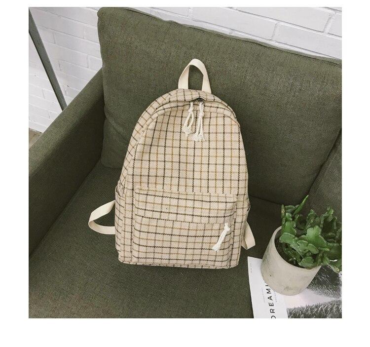 HTB1R4oPa.CF3KVjSZJnq6znHFXap 2 Pieces Japan style Plaid Style Women Backpack Pencil Case Student Girl School Bag Travel Shoulder Bag For Women 2019 Bagpack