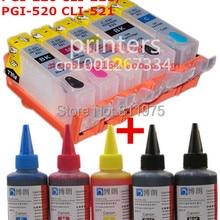 Для CANON IP3600 IP4600 IP4700 MX860 MX870 MP540 MP550 MP560 MP620 MP630 MP640 перезаправляемый картридж+ 5 цветов чернилами 500 мл