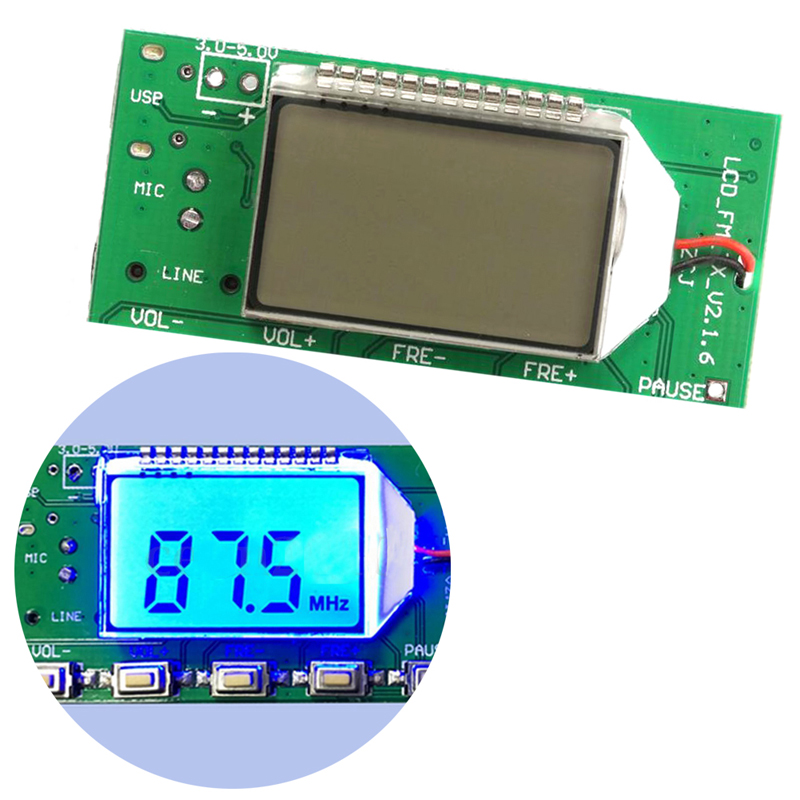 Hottest FM Transmitter Digital Module DSP PLL Wireless Stereo Microphone 87-108MHz