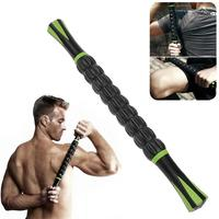New Point Full Body Muscle Rear Shoulder Roller 18inches Massage Stick Athletes Relief Black Relaxion Accessories