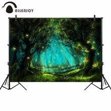 Allenjoy fotoğraf bölge fotografia arka plan wonderland fantezi peri orman glitter elf konut karikatür fotoğraf backdrop