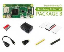 Raspberry Pi Zero W пакет B, с официальным чехлом Micro SD карты, адаптер питания, официальный корпус и основные компоненты