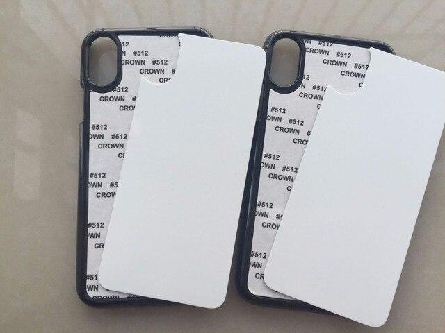 timeless design 725bc 9d281 US $169.0 |2D cover per iphone X caso di stampa di sublimazione per iphoneX  piastra di trasferimento di calore con inserto in metallo per iX custodie  ...