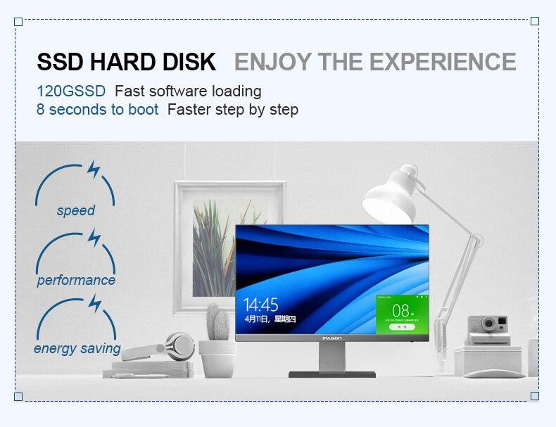 Ipason p22 21.5 polegadas escritório desktop tudo-em-um