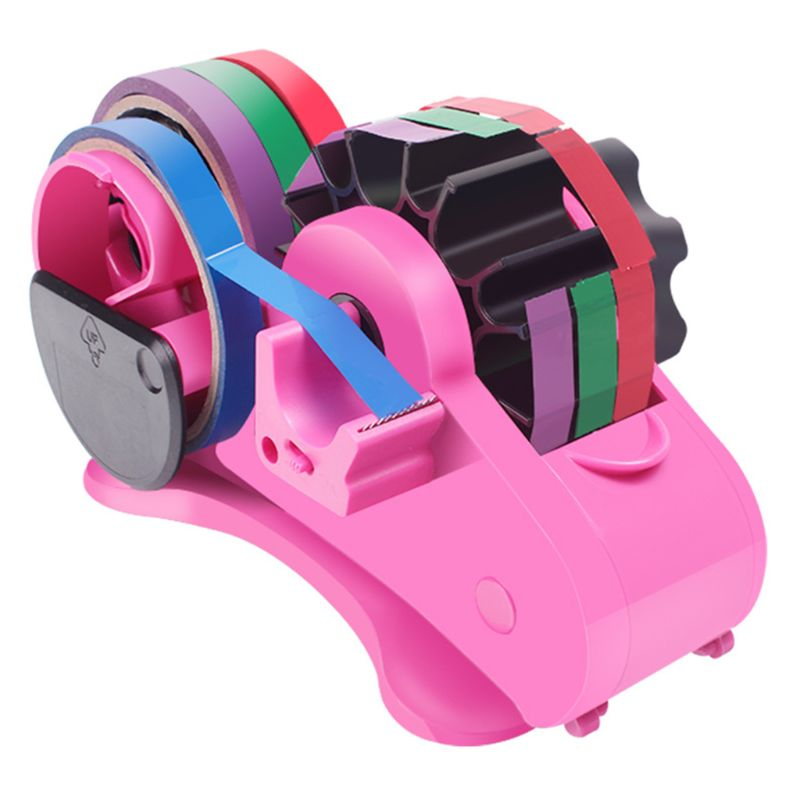 Semi-Auto Tape Dispenser With 35mm Fixed Length Tape Cutter Desktop Office Packing Home Tools