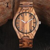 YISUYA Mens Wood Watch Creative Quartz Wrist Watches Male Fashion Casual Natural Handmade Full Bamboo Sports Clock Hour