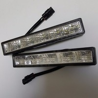 CNLM High Quality 2 Pcs Car Drl Daytime Running Light Front Daylight 5 LED Fog Lamp