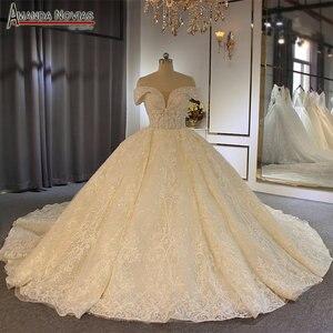 Image 1 - Роскошное бальное платье с открытыми плечами, свадебное платье, Аманда новиас, 2020