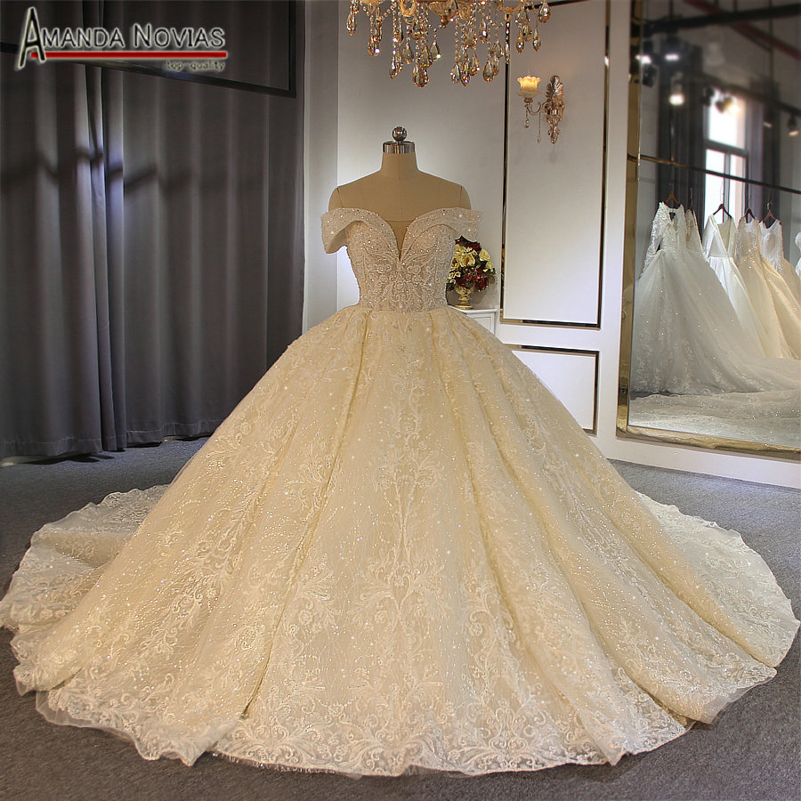 2019 Robe De Soiree Off Shoulder Style Luxury Ball Gown