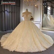 Robe de soirée, épaules dénudées, robe de bal de luxe, robe de mariage, amanda novias, 2020