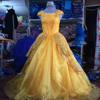 Beauty and the Beast Princess Belle Luxury Dress Million Rhinestones Halloween Fancy Ball Dancing Party Cosplay gfit custom made