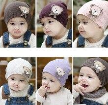 2016 NEW Cute Winter Autumn Newborn Crochet warm Cotton Baby beanie Hat Girl Boy Cap Children