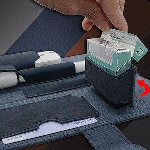 Image 5 - JINXINGCHENG פאוץ תיק מגן מחזיק כיסוי נשים ארנק מקרה עבור iqos 2.4 בתוספת עור מפוצל אבזרים