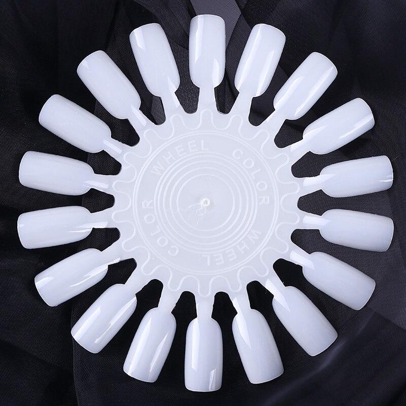 White False Nail Tips Art Display Practice 18 Wheel Board Nail Art Tool White False Nail Tips Art Display Practice 18 Wheel Board Nail Art Tool