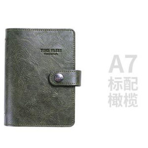Image 5 - Yiwi A7 PU Leather Loose leaf Planner  Pink Green Black Binder Spiral Vintage Diary  Notebook