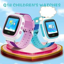 2019 Q18 Childrens Smart Watch SIM Card Color Touch LBS PositioningSecurity Clock Tracker For Kid Boy Gift