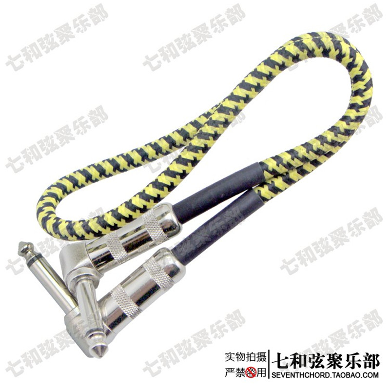 cloth braided 50cm anti noise guitar cable wire effect pedal cable stomp box short audio. Black Bedroom Furniture Sets. Home Design Ideas