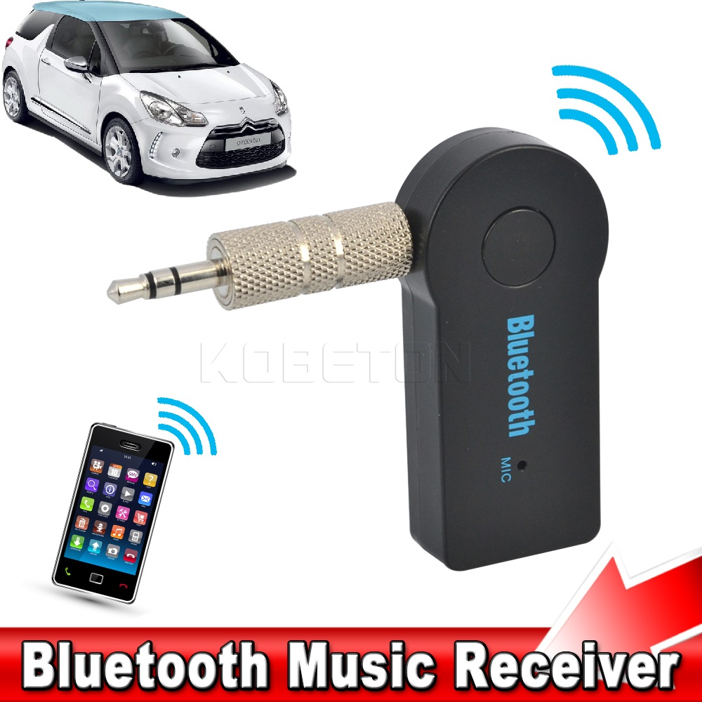 2016 A2DP Wireless Bluetooth Audio Music Receiver Universal Handfree Car Kit  Mini Adapter 3.5mm Stereo Mic For Phone