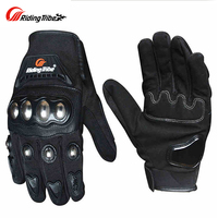 Riding Tribe Motorcycle Gloves Men Women Stainless Steel Shell Touch Screen Riding Motorbike Gloves Guantes Moto