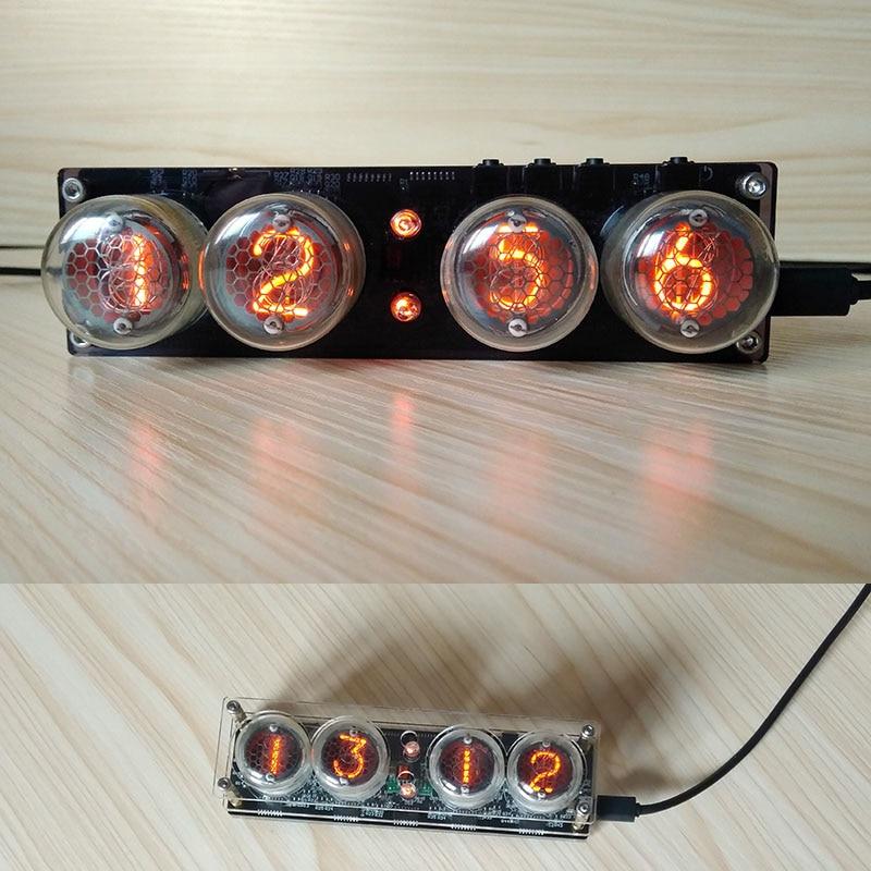 DC 5V USB Digital Nixie Tube Clock QS30 1 ZM1020 Vintage Retro Desk Table Clock