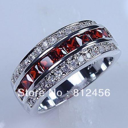 Size 8 9 10 11 12 Clic Tail Jewelry Red Garnet 10kt