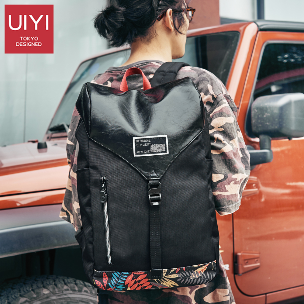 UIYI Mens casual backpack black polyester waterproof 14 laptop bag Male female student bags Backpack Drop Shipping #UYB7049UIYI Mens casual backpack black polyester waterproof 14 laptop bag Male female student bags Backpack Drop Shipping #UYB7049