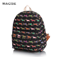 5 Colors New Fashion Schoolbag For Kid Factory Direct Quality Assurancecute Cartoon Dachshund Backpack