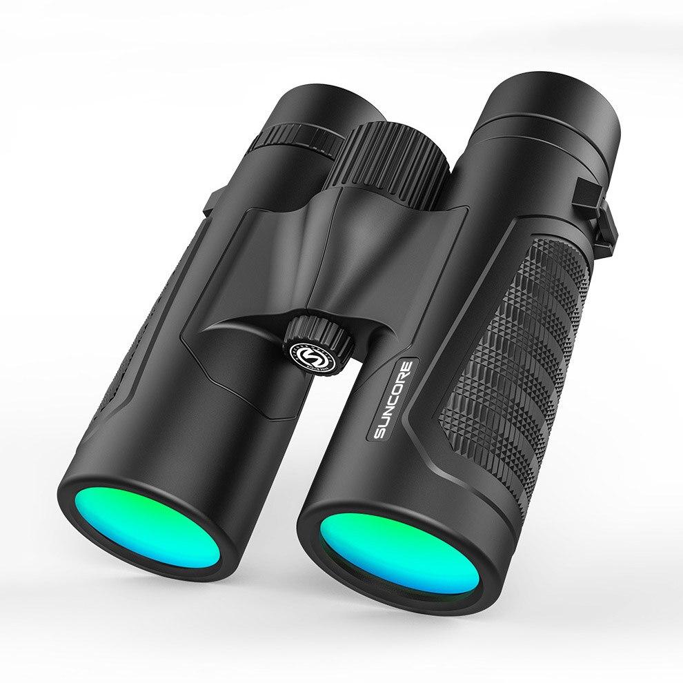 12x42 hd binoculos de alta potencia bak 4 prisma multi camada revestimento verde telescopio portatil caminhadas