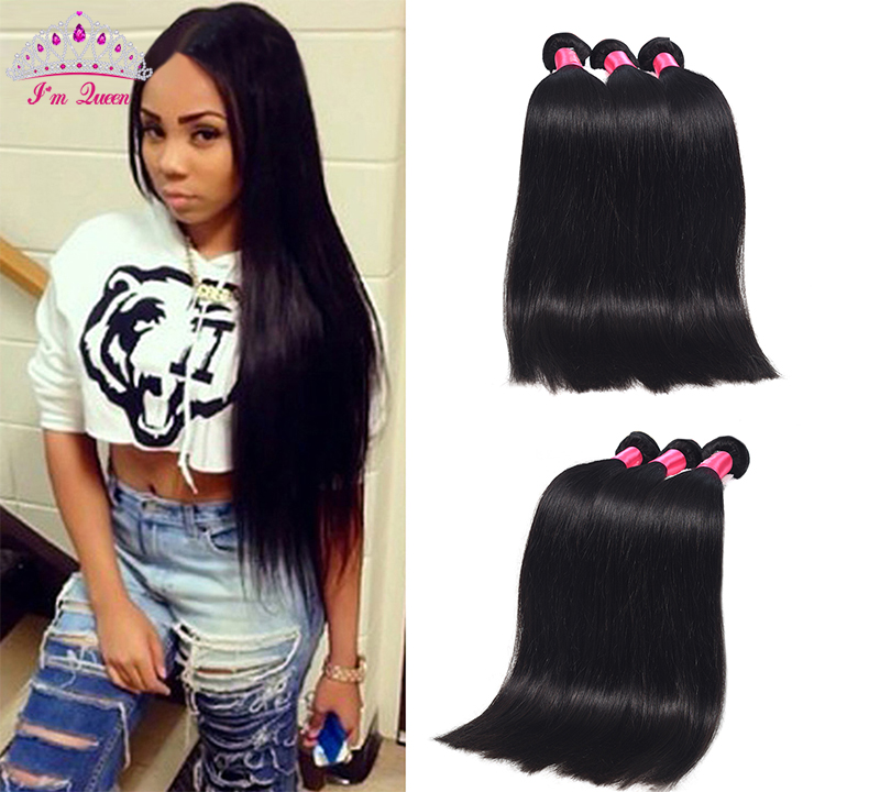 Malaysian Virgin Hair Straight 3Bundles 7A Malaysian Straight Human Hair Weave 100% Human Hair Extension Straight Malaysian Hair