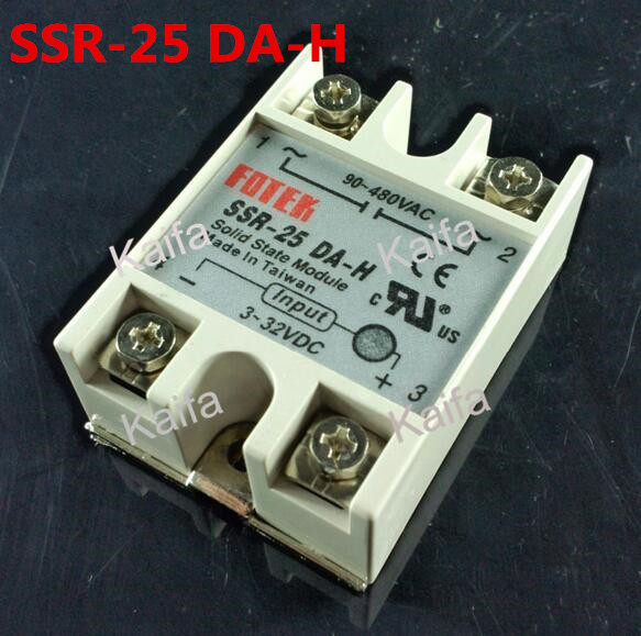 1 Piece Solid State Relay SSR DC Control AC SSR-25 DA-H 3-32V DC To 90-480V AC High Quality 12 inches mens muscle rubber body black skin figures bodies for 1 6 scale male head sculpts brinquedos toys collections
