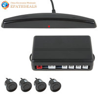 Professional Universal Car Parking Sensor System Backup Reverse Radar Kit LED Monitor Display with 4 Sensors Buzzer Double CPU