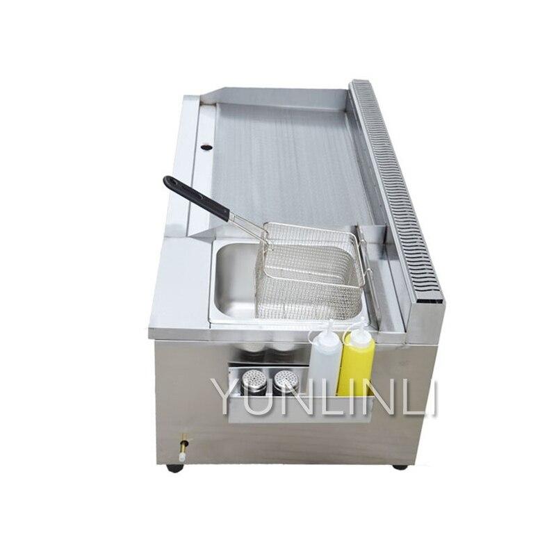 Коммерческий газ сковородку Фрайер один машина гриле кальмар рук торт машина Фрайер теппаньяки оборудования газовый гриль