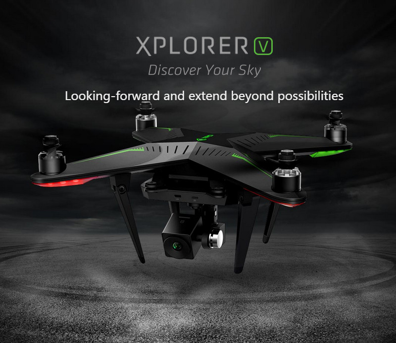 цена Freeshipping XIRO Zero Xplorer V Drones RC Helicopter FPV 5.8G RC Quadcopter Drone with 1080P Camera & 5200mAh Battery