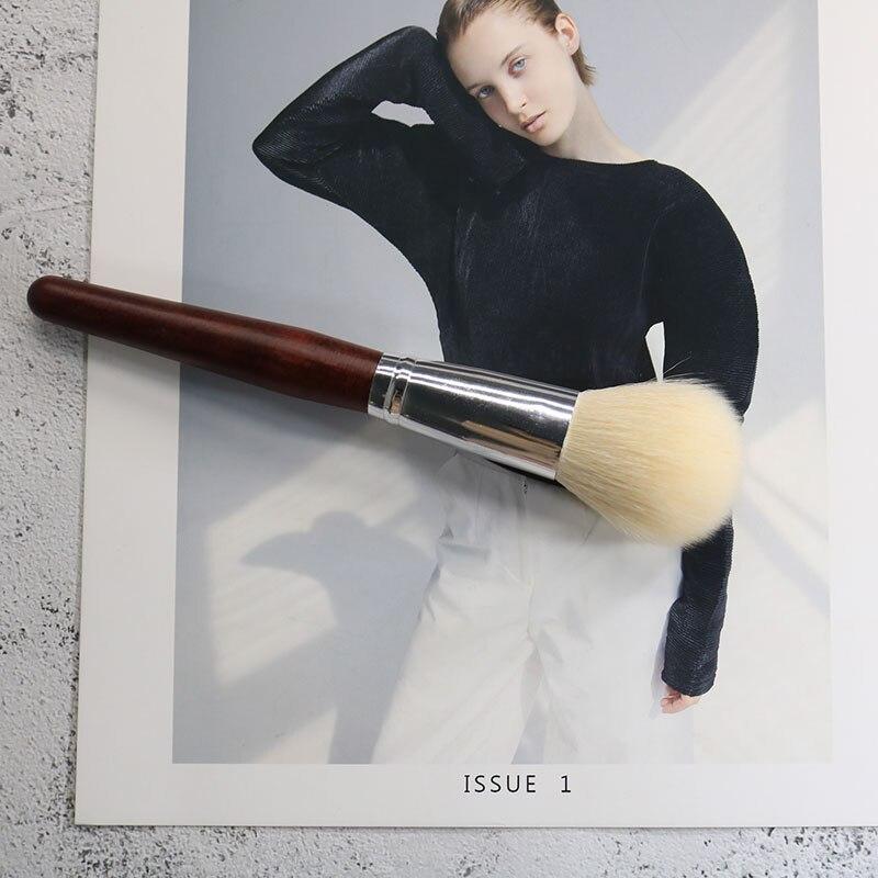 Купить 1 шт кисть для макияжа с деревянной ручкой из шерсти и козьей